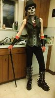 Full body face paint and costume/ Top hat and cain by DJesterS