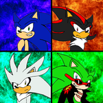 The Four Hedgehogs by crazyhedgehog777