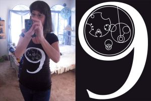 The Ninth Doctor in Gallifreyan Shirt by Llyzabeth