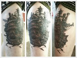 Howls Moving Castle Tattoo by shaynakins99