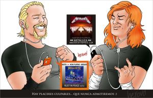 Dave Mustaine y James Hetfield by heroud