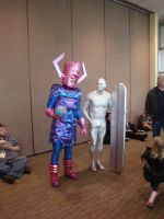 Galactus and Silver Sufer by Lillagon