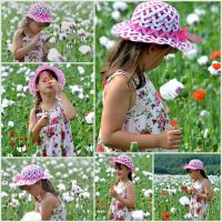 Girl in a poppy field by SvitakovaEva