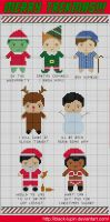 Star Trek Christmas Costumes by black-lupin