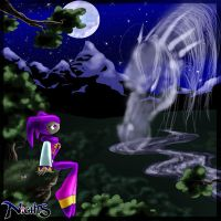 NiGHTS and the Wind Guardian by metara