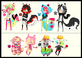 Random Adoptables - CLOSED- by Ayuki-Shura-Nyan