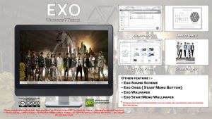 [2013 Theme ] Exo Kpop for Windows 7 by HKK98