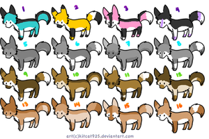 Wolf Adoptables set 1. CLOSED by MichelsAdoptions
