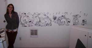 Calvin and Hobbes Mural by K1D6R4Y