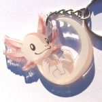 Keychain Axolotl Clear Front2 by Mewitti