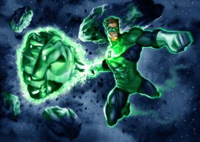 Green lantern by LeeBaba