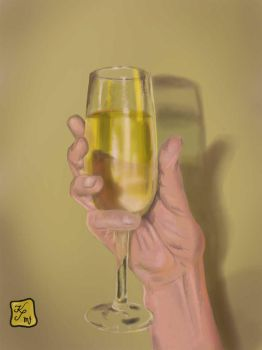 Hand holding a glass by zornisse