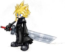 Cloud Strife Sonic version by Rush88