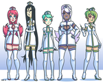 Space Nurse Line Up by ZoeStanleyArts