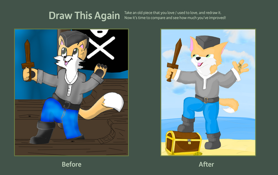Draw This Again Contest by WolfFoxHybrid