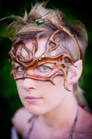 Dryad or Treant Leather Mask by Silverfaune