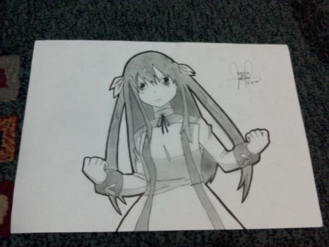 My first Wendy Marvell drawing by Erza-1703