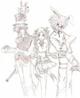 ALice with the mad crew by periwinkleextraction