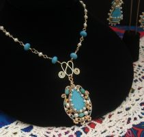 Turquoise Netted Bezel by mdvannes