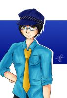 Cosplay Illustration - Naoto Shirogane by agent-ayu