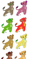 Lion cub adoptables ALL SOLD by Phantassel