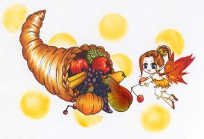 Autumn Fruit Fairy by Irreeltal