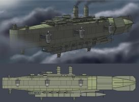 Alkirian Sky Kingdom Battleship (Assault) by Lionel23