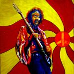 Psychedelic Hendrix by montalvo-mike
