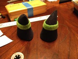 dyed foam horns finished by Immarumwhore