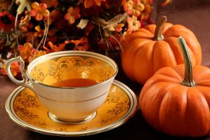 Autumn Teacup by Tuftless