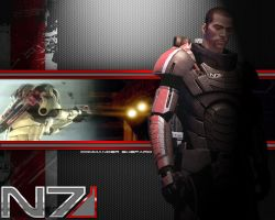 Commander Shepard Wallpaper by EspionageDB7