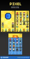 pixel - android phone theme by kidaubis