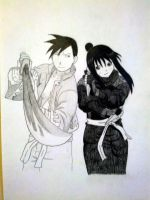 Ling And Lan Fan Drawing by 1LOTRfan