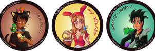 Sanrio Buttons 2 by SilentJ75