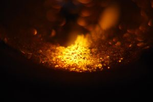 Golden Glitter Bokeh by RowanLewgalon