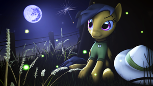 Daring Do Resting Under the Moon by FiosCrasher