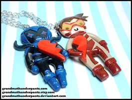 Blue Beetle/Impulse BFF Set by GrandmaThunderpants