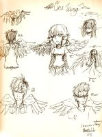 One wing characters by rinweb