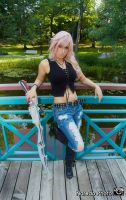 final fantasy Lightning Dissidia 012  (Aya Brea ) by Queen-Azshara