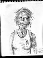 2013 sketchbook Zombie woman by Penerari