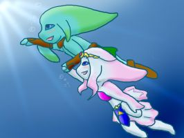 Romance under Lake Hylia by SquirtSapphire