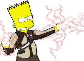 The inFAMOUS Bart Simpson by CorsairsEdge