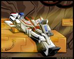 Starscream x Skyfire, chatting by WaywardInsecticon