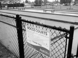 Bocce Courts (2) by dsimple