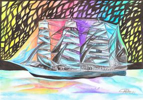 ColorShip of dreams by snowmarite