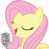 Fluttershy singing by Mihaaaa