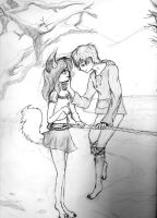 Aren't you cold in the snow, puppy? by Lunarcliptic-fobia