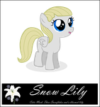 OC Pony Snow Lily by RedmondRoshi