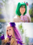 Macross Frontier - Sheryl Nome and Ranka Lee by oShadowButterflyo