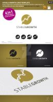 Stable Growth Logo Template by design-on-arrival
